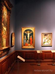15.szazad festeszete, olasz festeszet, szepmuveszeti muzeum gyujtemeny, regi keptar, muzeumi restauralas, krisztus a kereszten, rekonstrukcios festes, retusalas, velekei maria