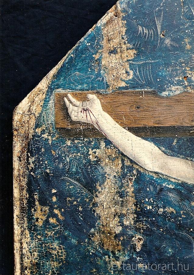 kora reneszánsz kálvária fatáblakép restaurálása festményrestaurálás festő restaurátor