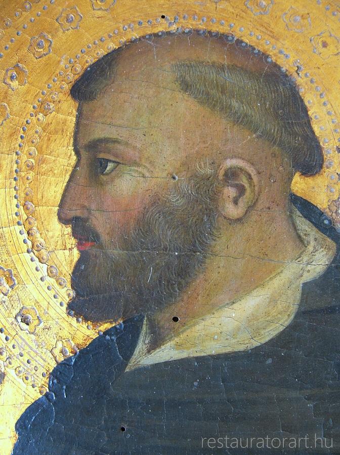 középkori olasz festészet, szentkép felújítása, egyházi műtárgyak restaurálása, szentkép restauráltatása, festmény restauráltatás, restauratorart