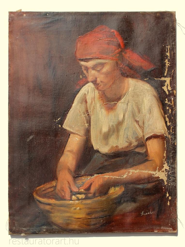 olajfestmény restaurálása, olajkép restaurálása, festmény felújítás, festmény javítás, antik festmény felújítás, hullámos festmény, lepereg a festék a festményről