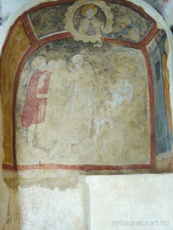 siklósi vár kápolna középkori falkép restaurrálása