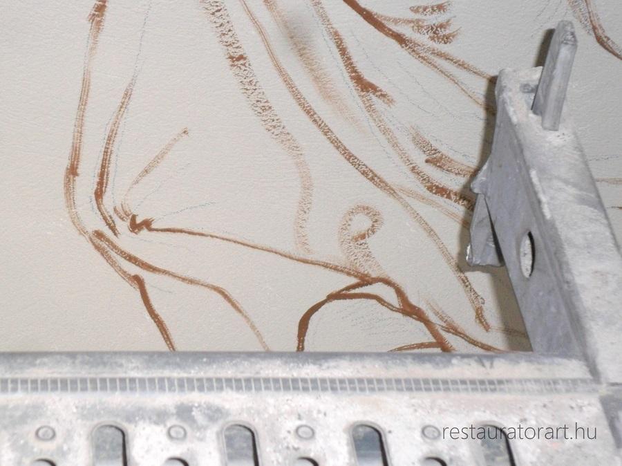 fresko restauralas, falkep resturalas, restauralas, varkert bazar, rekonstrukcio