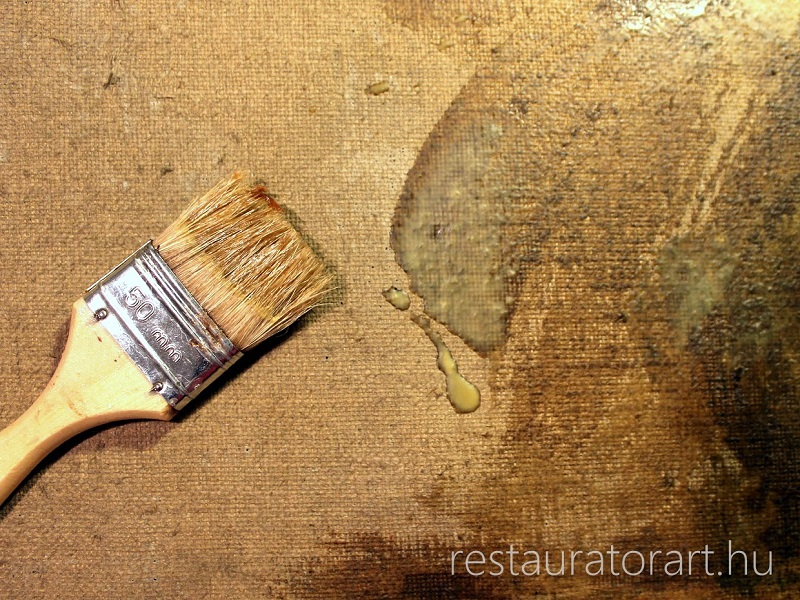 olajfestmény restaurálás, olajfestmény tisztítás, elsötétedett festmény tisztítása, hullámos festővászon, pergő festék, festmény tisztítás, festmény restaurálás, festmény restaurátor