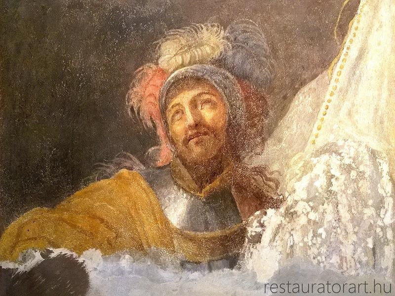 falkép restaurálás, falkép rekonstrukció, restaurálás etika, restaurátor, restaurátorművész, festmény restaurátor
