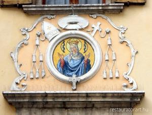 kozepkori festeszet, olasz muveszet, muemlekvedelem, muemleki epulet restauralasa, epulet restauralas, falkeprestauralas, falkep restauralasa, fresko konzervalasa, fresko restauralas