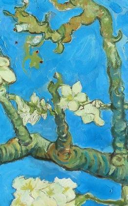vincent van gogh, virágzó mandulafa, mandulavirágzás, olajfestmény, festmény másolat, painting copy, malarei kopie, festmény reprodukció, festmény másolat készítése, restaurator art