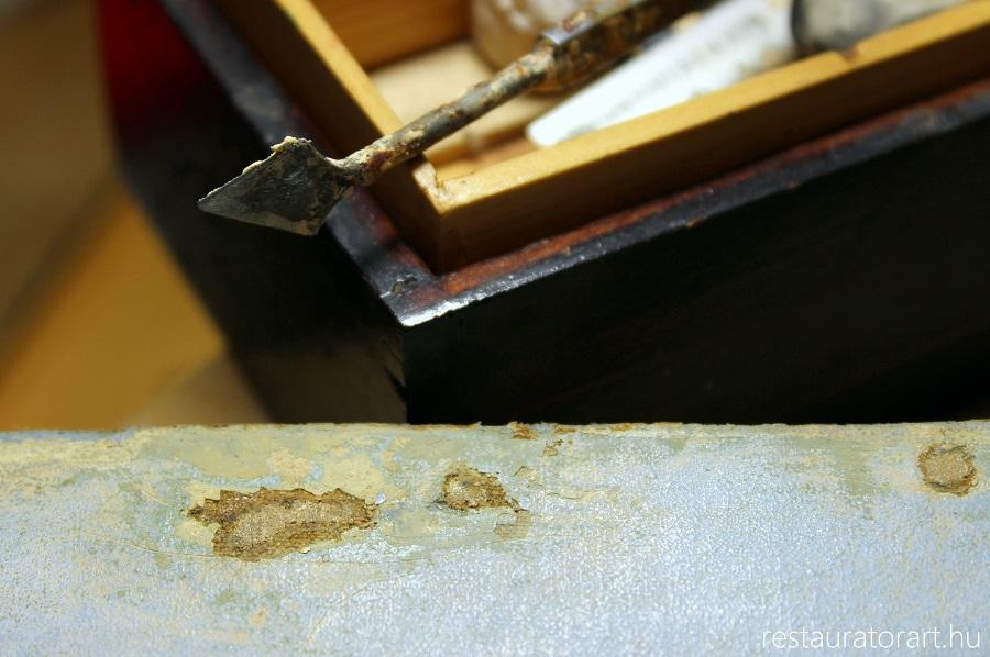 szakadt festmeny lyukas festmeny restauralasa restauratorart restauratormuhely  (1)