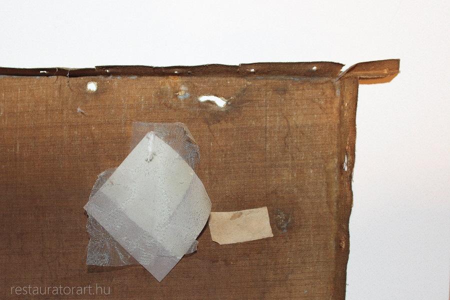 szakadt festmeny lyukas festmeny restauralasa restauratorart restauratormuhely  (3)