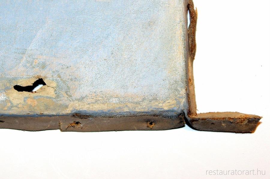 szakadt festmeny lyukas festmeny restauralasa restauratorart restauratormuhely  (4)