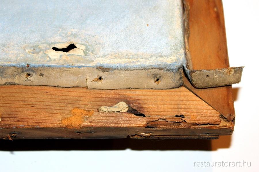szakadt festmeny lyukas festmeny restauralasa restauratorart restauratormuhely  (6)