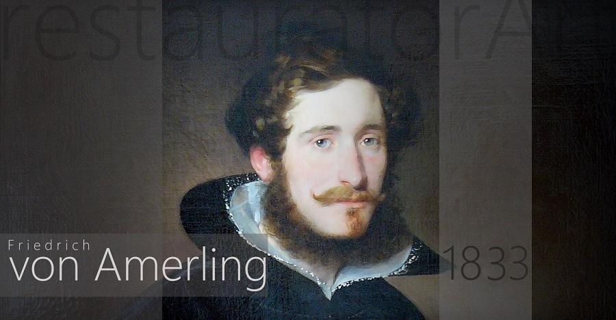 friedrich von amerling 1833 painting restoration painting restorers restauratorart