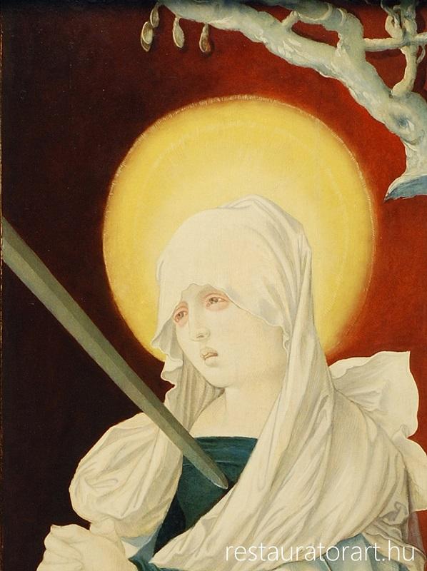 festmény restaurálás, műtárgy restaurálás, múzeumi restaurálás, restauratorart, német reneszánsz festmény restaurálása, magyarországi műtárgy gyűjtés